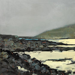 Low Tide, Kippford - Gouache