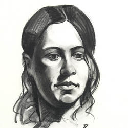 Kathy - Charcoal and conte