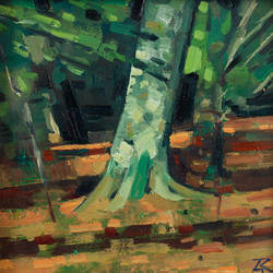 Tree Study - oil on canvas