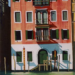 """The Old Palazzo� gouache"