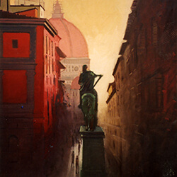 """View of the Duomo from the Via Dei Vervi� oil"