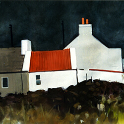 """West Coast Cottages� gouache"